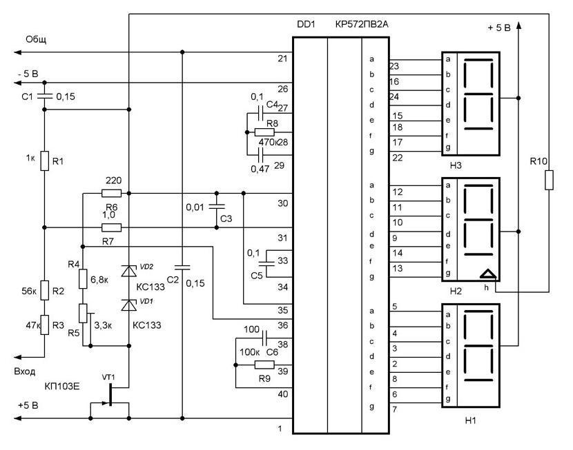 Электронный цифровой вольтметр своими руками
